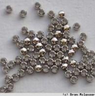 Old Silvercolour crimp beads 3.0mm - 100pcs - #46